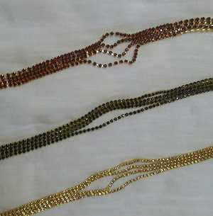 Golden, Red amd Green Stone Chains