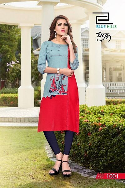 Fashionable kurti with embroidery work