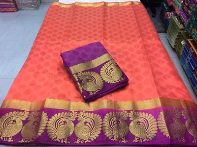 Tussar Silk Trending Party Wear Saree.