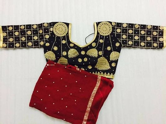Designer Party Wear Blouse With Party Wear Saree