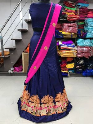 Elephant Paper Silk Lehenga For Party