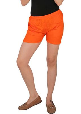 Solid Rayon Shorts With Side Pockets