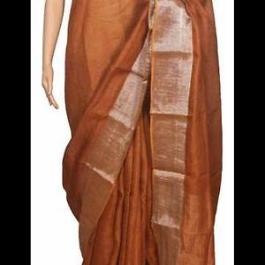 exclusive pure linen saree