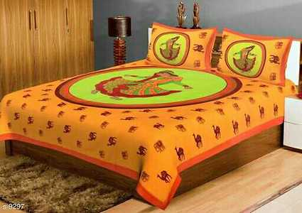 Multicolored South Cotton Double Bedsheets