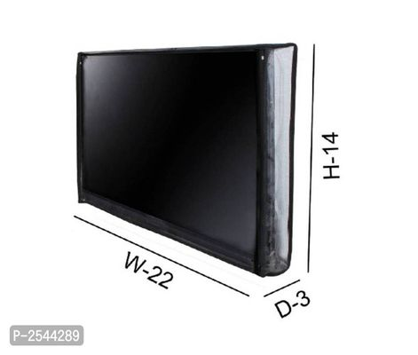 TV Cover Transparent LED/LCD for 24 inch Smart Android TV (Black)