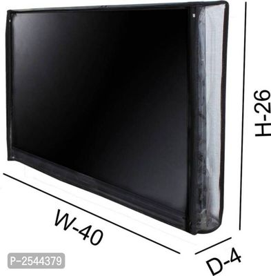 TV Cover Transparent LED/LCD for 43 inch Smart Android TV (Black)