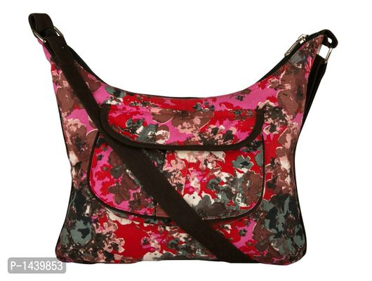 Red Printed Canvas Bag