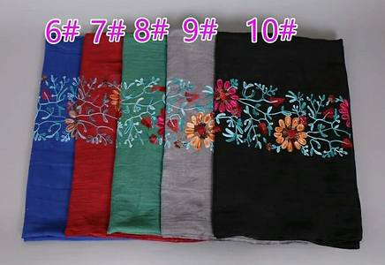 Embroided scarf