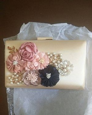 Fancy floral hand clutch