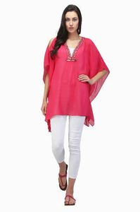 Pink hand crafted kaftan