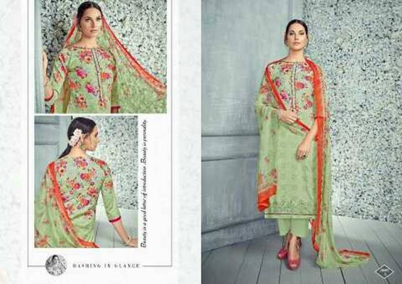 cotton suit with embroidery nd chiffon dupptta