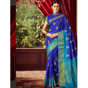 Raw silk with running blouse ,check availability before buying