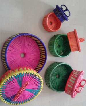Lovely color full fine weave mini boxes for gifting. Only bulk orders.