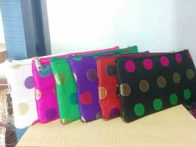 colourful hand made pouches