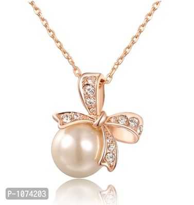 Peculiar Pearl Rose Gold Plated Pendent