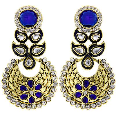 Floral Blue Earrings