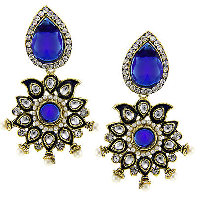 Floral Chic Blue Earrings
