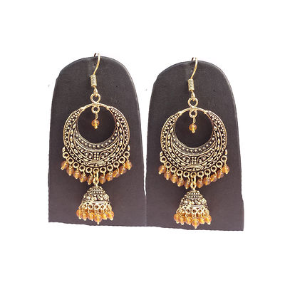Golden Gold Plated Chandbalis