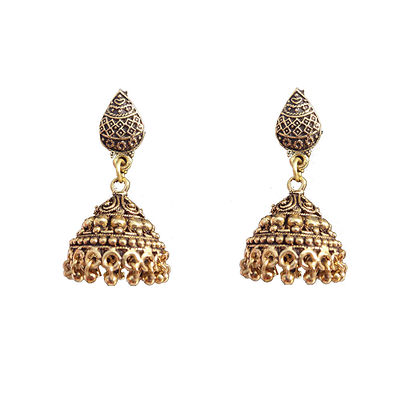 Golden Gold Plated Jhumkas