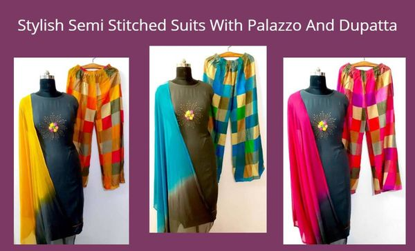 stylish-semi-stitched-suits-with-palazzo-and-dupatta