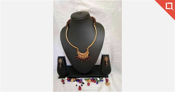 Hand made chain with Antique pendant n beads