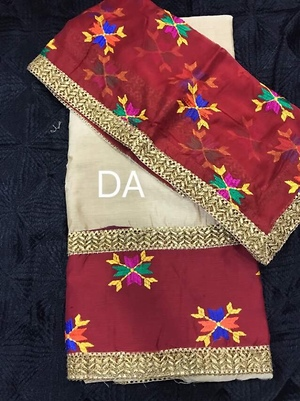 *Offer of the day*  *Beautiful suit on golden silk with Dupatta*