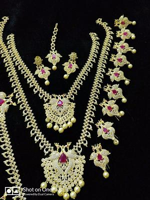 Price challenge-any AD full bridal set 6500+$ only 👉Direct from manufacturer... ♦JEWELLERY ♦HOME&KITCHEN ♦RETURN GIFTS  Available at very reasonable prices inbox/ whatsapp 7799897383 for orders... Pl