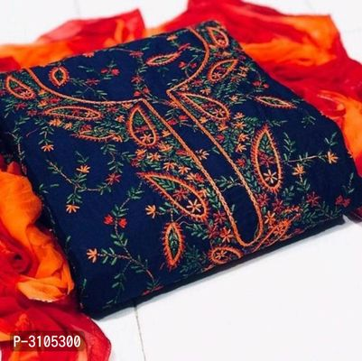 Alluring Semi Modal Dress Material With Dupatta For Women's